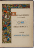 Books:Literature Pre-1900, H. N. Humphreys. Illuminated Illustrations of Froissart.London: William Smith, 1846. Publisher's leather binding wi...