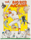 "Baseball Collectibles:Others, Circa 1975 ""The Big Red Machine"" by Willard Mullin Signed Print...."