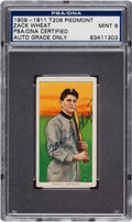 Autographs:Sports Cards, 1909-11 T206 Piedmont Zach Wheat Tobacco Card PSA/DNA Mint 9, Signed. ...