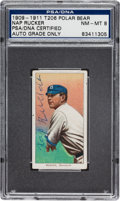 Autographs:Sports Cards, 1909-11 T206 Polar Bear Nap Rucker Tobacco Card PSA/DNA NM-MT 8, Signed. ...