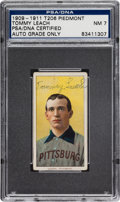 Autographs:Sports Cards, 1909-11 T206 Piedmont Tommy Leach Tobacco Card PSA/DNA NM 7, Signed. ...