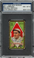 Autographs:Sports Cards, 1911 T205 Gold Border Bill Carrigan Tobacco Card PSA/DNA NM-MT 8, Signed. ...