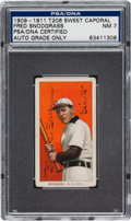 Autographs:Sports Cards, 1909-11 T206 Sweet Caporal Fred Snodgrass Tobacco Card PSA/DNA NM7, Signed. ...