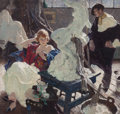 Mainstream Illustration, DEAN CORNWELL (American, 1892-1960). The Artist and HisModel, 1921. Oil on canvas. 34 x 36 in.. Signed center left....