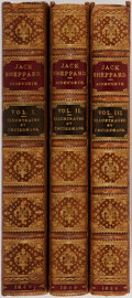 Books:Literature Pre-1900, W. Harrison Ainsworth. SIGNED. George Cruikshank. Illustrator. Jack Sheppard: A Romance. In Three Volumes. London: R... (Total: 3 Items)
