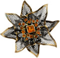 Estate Jewelry:Brooches - Pins, Marilyn Cooperman Citrine, Gold, Silver Brooch . ...