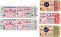 Baseball Collectibles:Tickets, 1953-55 World Series Tickets Lot of 5....
