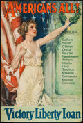 "Movie Posters:War, World War I Propaganda (Forbes, 1919). Poster (27"" X 40"")""Americans All!"" War.. ..."