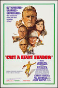 """Movie Posters:War, Cast a Giant Shadow (United Artists, 1966). One Sheet (27"""" X 41"""")& Lobby Card Set of 8 (11"""" X 14""""). War.. ... (Total: 9 Items)"""