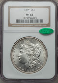 Morgan Dollars: , 1899 $1 MS64 NGC. CAC. NGC Census: (2829/670). PCGS Population(3709/1315). Mintage: 330,846. Numismedia Wsl. Price for pro...