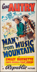 "Movie Posters:Western, Man from Music Mountain (Republic, 1938). Three Sheet (41"" X 80"").Western.. ..."