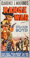 "Movie Posters:Western, Range War (Paramount, 1939). Three Sheet (41"" X 879.5""). Western.. ..."