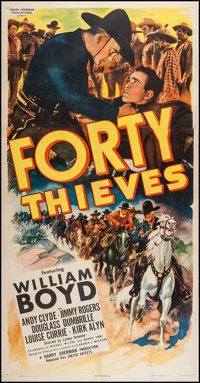 "Forty Thieves (United Artists, 1944). Three Sheet (41"" X 81""). Western"