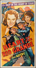 "Movie Posters:Western, Heart of the Rio Grande (Republic, 1942). Three Sheet (41"" X 79""). Western.. ..."
