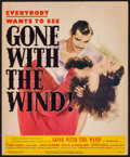 "Movie Posters:Academy Award Winners, Gone with the Wind (MGM, R-1947). Trimmed Window Card (14"" X 17"").Academy Award Winners.. ..."