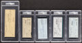 Autographs:Checks, Signed Baseball Stars and HoFers Checks PSA/DNA Authentic (5). ...