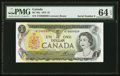 Canadian Currency: , BC-46a $1 1973 with Low Serial Number NT0000009. ...
