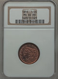 Half Cents: , 1855 1/2 C MS64 Red and Brown NGC. NGC Census: (79/55). PCGSPopulation (137/21). Mintage: 56,500. Numismedia Wsl. Price fo...