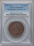 1783 Washington & Independence Cent, Draped Bust, No Button, Copper Restrike, Engrailed Edge, PR66 Brown PCGS. PCGS...