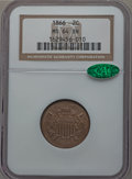 Two Cent Pieces: , 1866 2C MS64 Brown NGC. CAC. NGC Census: (62/42). PCGS Population(37/11). Mintage: 3,177,000. Numismedia Wsl. Price for pr...
