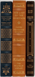 Books:Fine Bindings & Library Sets, [Literature]. Group of Three. Franklin Library. Publisher'sbinding. Includes works from James Fenimore Cooper, Zane Grey,...(Total: 3 Items)