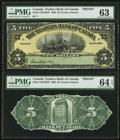 Canadian Currency: , Toronto, ON- The Traders Bank of Canada $5 Jan. 2, 1909 Ch. #720-16-02P Face and Back Proofs. ...