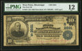 National Bank Notes:Mississippi, West Point, MS - $10 1902 Plain Back Fr. 624 The First NB Ch. # (S)2891. ...