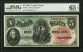 Large Size:Legal Tender Notes, Fr. 64 $5 1869 Legal Tender PMG Gem Uncirculated 65 EPQ.. ...