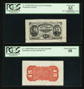 Fractional Currency:Third Issue, Fr. 1274SP 15¢ Wide Margin Third Issue Pair PCGS Choice New 63 Apparent and Choice About New 58.. ... (Total: 2 items)