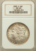 Morgan Dollars: , 1883-O $1 MS63 NGC. NGC Census: (44506/54248). PCGS Population(43342/43742). Mintage: 8,725,000. Numismedia Wsl. Price for...