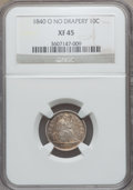 Seated Dimes: , 1840-O 10C No Drapery XF45 NGC. NGC Census: (2/13). PCGS Population(10/37). Mintage: 1,175,000. Numismedia Wsl. Price for ...