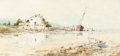 Works on Paper, WILLIAM LOUIS SONNTAG, JR. (American, 1869-1898). Coastal House with Beached Boat. Watercolor and gouache on paper. 9 x ...