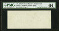 Fr. 2027-A $10 1985 Federal Reserve Note. PMG Choice Uncirculated 64