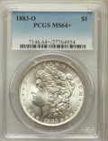 Morgan Dollars, 1883-O $1 MS64+ PCGS. PCGS Population (35723/8019). NGC Census:(43552/10696). Mintage: 8,725,000. Numismedia Wsl. Price fo...