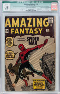 Silver Age (1956-1969):Superhero, Amazing Fantasy #15 Incomplete (Marvel, 1962) CGC Qualified PR 0.5Cream to off-white pages....
