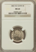 Liberty Nickels: , 1883 5C No Cents MS64 NGC. NGC Census: (2250/2380). PCGS Population(3166/1759). Mintage: 5,479,519. Numismedia Wsl. Price ...