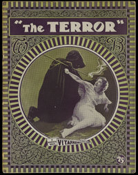 The Terror (Warner Brothers, 1928). Program (Multiple Pages). Horror. Starring May McAvoy, Louise Fazenda, Edward Everet...