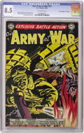 """Golden Age (1938-1955):War, Our Army at War #15 Davis Crippen (""""D"""" Copy) pedigree (DC, 1953) CGC VF+ 8.5 Off-white pages. Half a decade before Sgt. Rock..."""