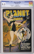 "Golden Age (1938-1955):Science Fiction, Planet Comics #39 Davis Crippen (""D"" Copy) pedigree (Fiction House,1945) CGC VF+ 8.5 Off-white pages. This is the nicest co..."