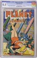 "Golden Age (1938-1955):Science Fiction, Planet Comics #53 Davis Crippen (""D"" Copy) pedigree (Fiction House,1948) CGC VF+ 8.5 Off-white to white pages. Covers with ..."