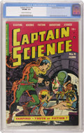 Golden Age (1938-1955):Science Fiction, Captain Science #4 (Youthful Magazines, 1951) CGC VF/NM 9.0 Creamto off-white pages. Although the publisher of this comic w...