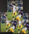 Football Collectibles:Photos, Brett Favre Signed Oversized Photographs Lot of 3....