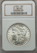 Morgan Dollars: , 1899 $1 MS65 NGC. NGC Census: (589/81). PCGS Population (1099/216).Mintage: 330,846. Numismedia Wsl. Price for problem fre...