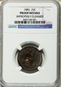 Proof Seated Quarters: , 1882 25C -- Improperly Cleaned -- NGC Details. Proof. NGC Census:(0/246). PCGS Population (11/281). Mintage: 1,100. Numism...