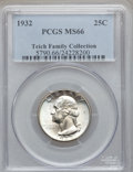 Washington Quarters: , 1932 25C MS66 PCGS. PCGS Population (174/2). NGC Census: (90/2).Mintage: 5,404,000. Numismedia Wsl. Price for problem free...