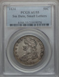 Bust Half Dollars: , 1834 50C Small Date, Small Letters AU55 PCGS. PCGS Population(135/279). ...