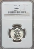 Washington Quarters: , 1932 25C MS66 NGC. NGC Census: (90/2). PCGS Population (174/2).Mintage: 5,404,000. Numismedia Wsl. Price for problem free ...
