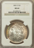 Morgan Dollars: , 1883-O $1 MS64 NGC. NGC Census: (43552/10696). PCGS Population(35723/8019). Mintage: 8,725,000. Numismedia Wsl. Price for ...