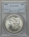 Morgan Dollars: , 1899 $1 MS64 PCGS. PCGS Population (3709/1315). NGC Census:(2829/670). Mintage: 330,846. Numismedia Wsl. Price for problem...