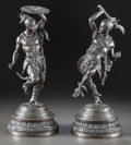 Paintings, A PAIR OF ORIENTALIST PATINATED BRONZE FIGURES OF WARRIORS. 20th century. 15-5/8 inches high (39.7 cm) (taller). ... (Total: 2 Items)